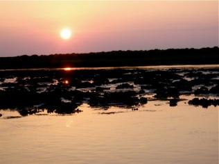 sundown on oyster beds