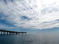 cloud canopy over HC pier
