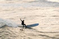 longboard bottom turn