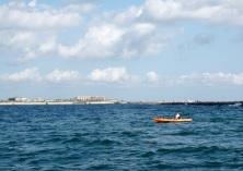kayak fishing at southjetty