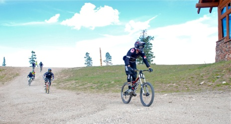 Riding it down