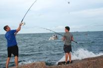 whip it, jetty fishing